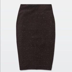 Aritzia Wilfred Free Lis Skirt Heather Maroon